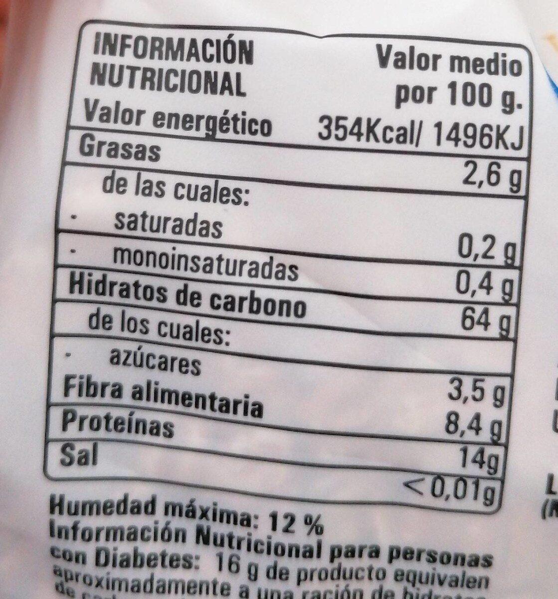 Copos de espelta ecológicos - Informació nutricional