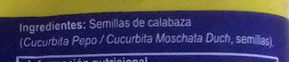 Semillas de Calabaza - Ingredientes
