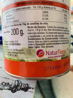 Lécithine de soja avec chia - Ingrediënten