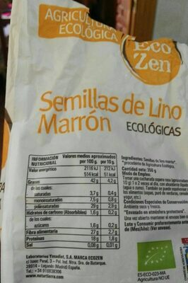 Eco zen - Nutrition facts