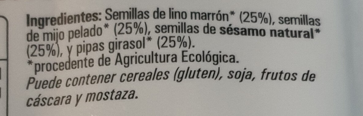 Mélange de graines - Ingredientes