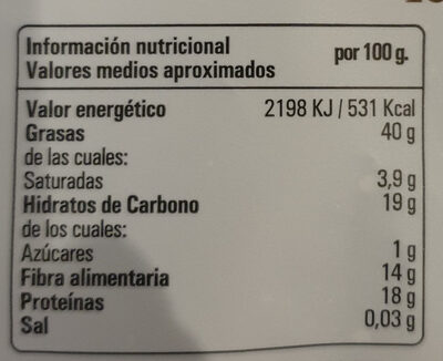 Mélange de graines - Información nutricional