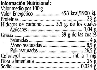 Semillas de lino dorado - Informations nutritionnelles - es