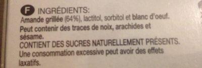 Turrón de Crema de Almendra - Ingrediënten - fr