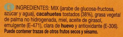 Turrón diverso de cacahuete - Ingredientes - es