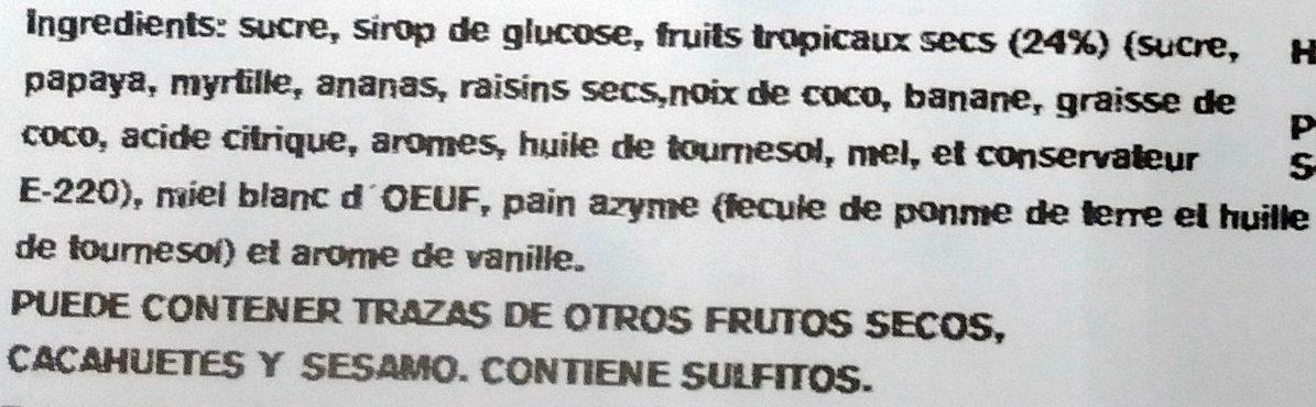 Nougat tendre - Ingrediënten - fr
