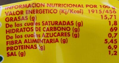 Maíz frito - Nutrition facts - es