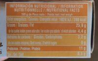Mejillones gigantes en escabeche - Nutrition facts - es