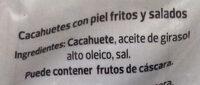 Cacahuete frito piel - Ingredients