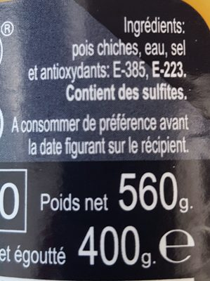 Pois chiches - Ingredients