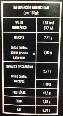 Callos - Voedingswaarden - es