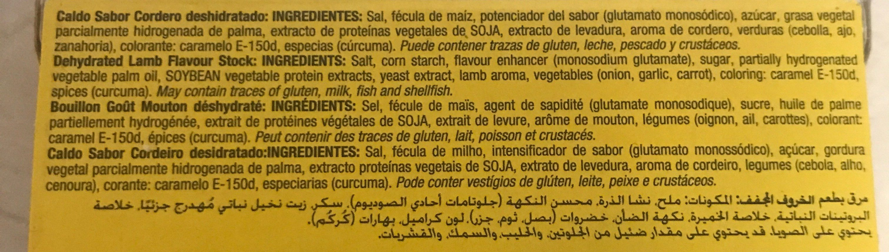 Bouillon gout mouton - Ingredients