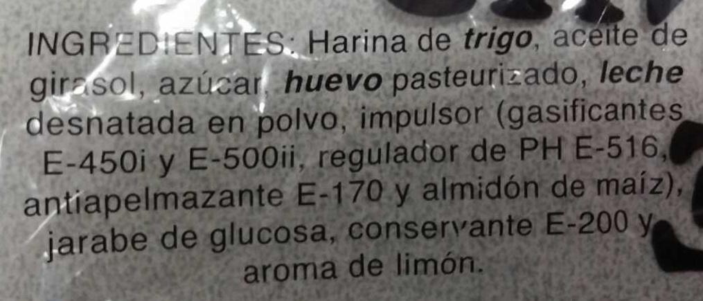 Madeleines Espagnoles - Ingredientes