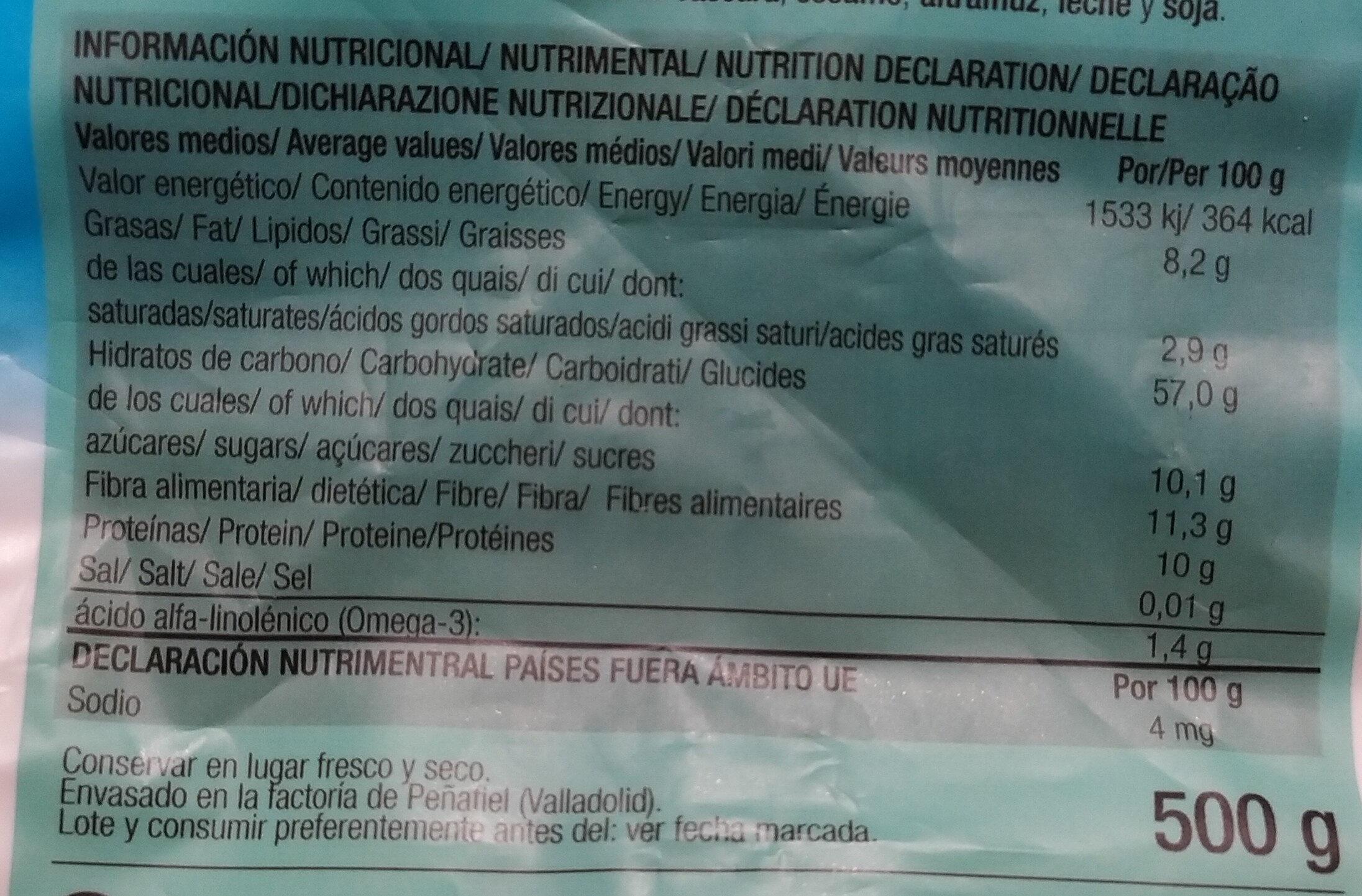 Muesli Con Frutas 500 GR - Ingredientes