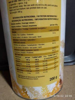 Levadura de cerveza seca copos - Nutrition facts