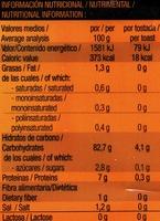 Tostadas Noglut - Información nutricional
