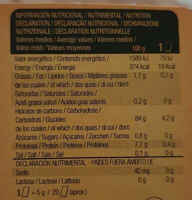 Noglut tostadas ligeras sin gluten y sin lactosa - Nutrition facts - es
