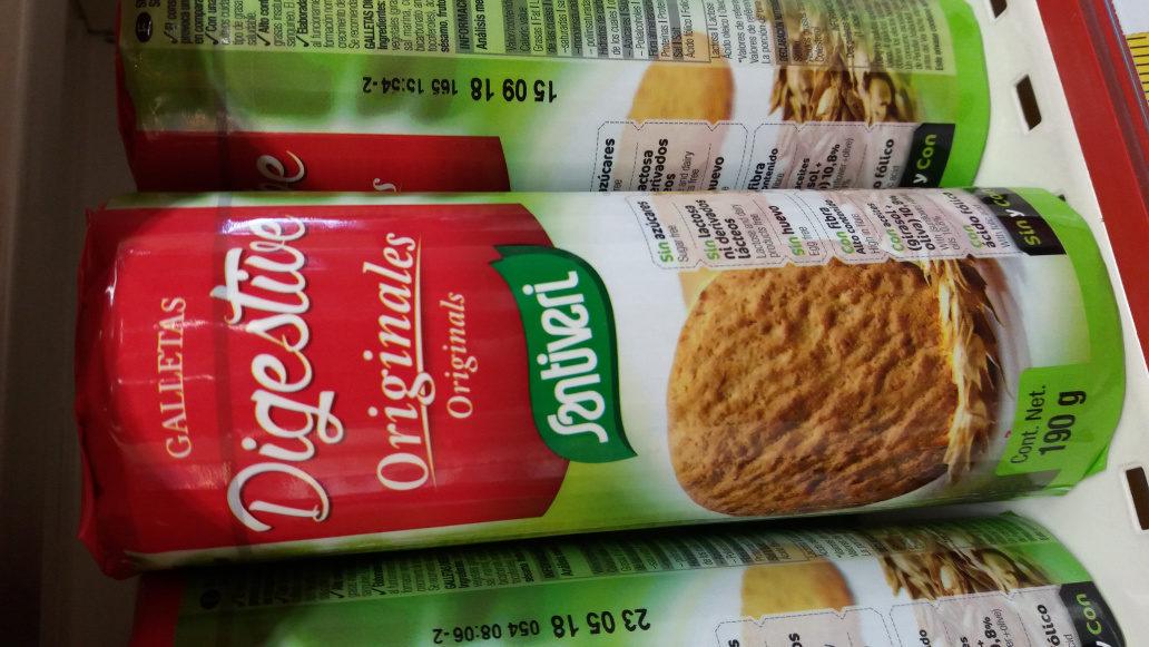 Galletas digestive sin azúcares, sin lactosa y sin huevo - Product - en