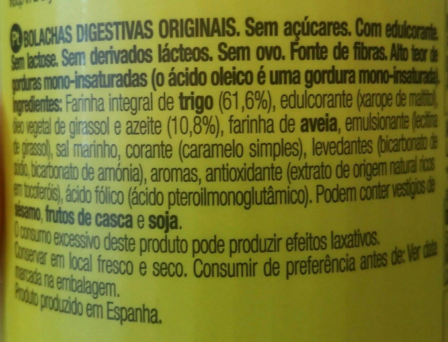 Galletas Digestive Originales - Ingredientes - es