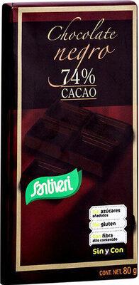 Chocolate negro cacao sin gluten y sin azúcares añadidos - Producte - es