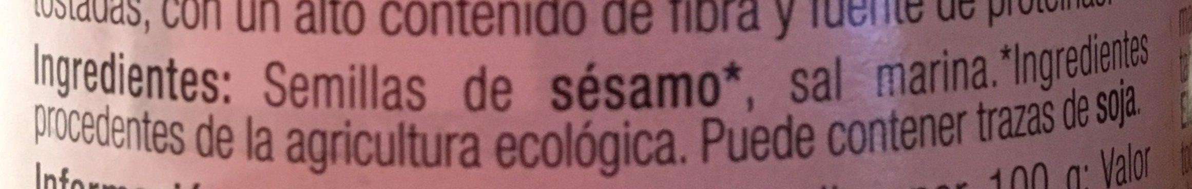 Bio tahin crema de sesámo ecológica - Ingredientes - es
