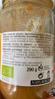 Bio tahin crema de sesámo ecológica - Información nutricional - es