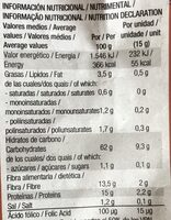 Pan Dextrin Integral Santiveri - Informació nutricional