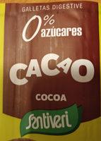 Galletas digestive 0% azúcares cacao - Product