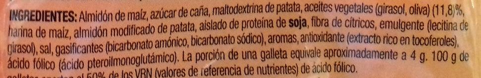 Noglut jungla galletitas con formas de animales - Ingredientes - es