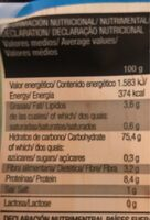 Tostadas ligeras avena - حقائق غذائية - en