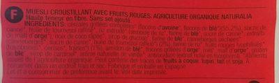 Crunchy Frutos Rojos 325 G. - Ingredients