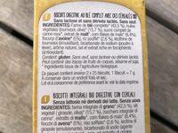 Galletas Digestive Cereales Bio 330 GR Santiveri - Ingredients