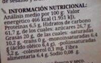 Florenitas galletas integrales ecológicas sin huevo sin lactosa - Nutrition facts - fr