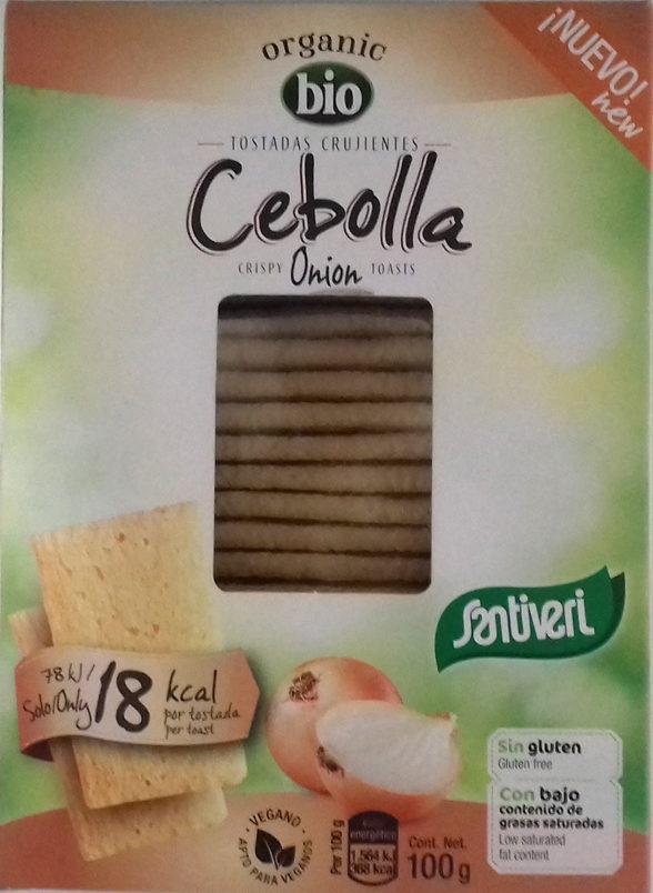 Organic bio tostadas crujientes con cebolla ecológicas - Producto