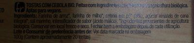 Organic bio tostadas crujientes con cebolla ecológicas - Ingrédients - fr