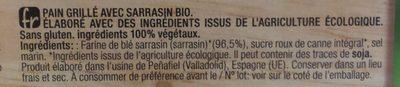 Organic bio tostadas ligeras ecológicas con trigo - Ingrédients - fr