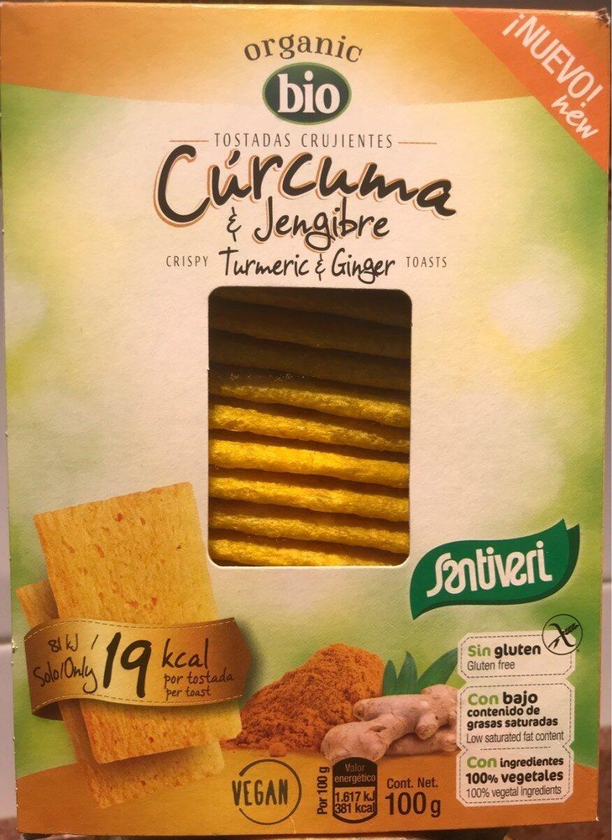 Tostadas crujientes de cúrcuma y jengibre - Produit - es