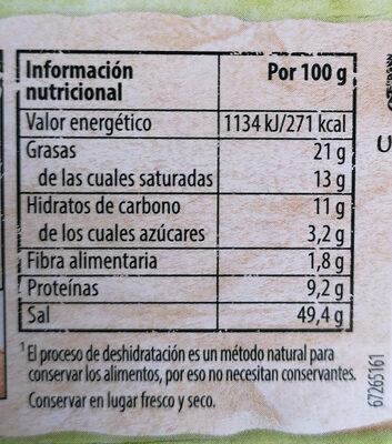 Caldo Vegetal Knorr - Información nutricional - es