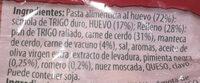 Tortellini de carne - Ingredients - es