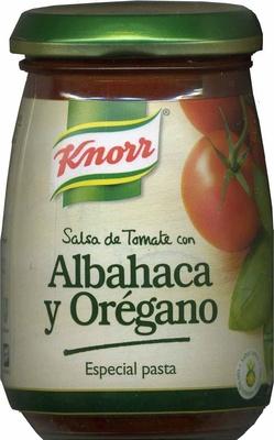 Salsa de tomate con albahaca y orégano