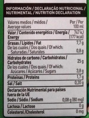 Arroz Cuisine - Informations nutritionnelles - es
