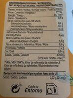 Bebida de Avena Calcio - Información nutricional - es