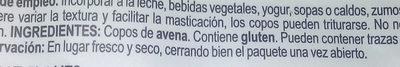 Flocs de civada - Ingredients