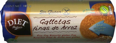 Galletas finas de arroz sin gluten - Product - es
