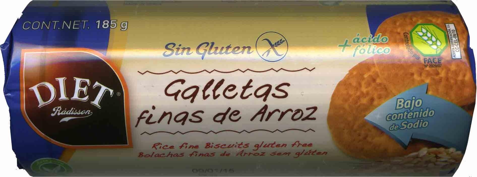 Galletas finas de arroz sin gluten - Produit - fr