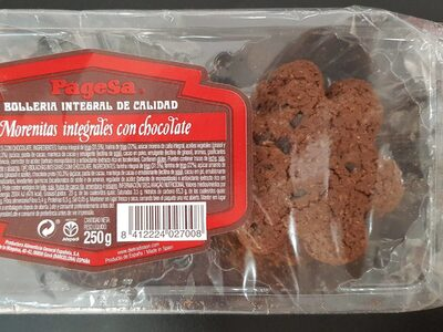 Morenitas integrales con chocolate - Producte