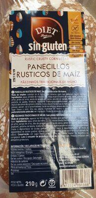 Panecillos rústicos de maiz - Producto - en