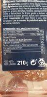 Panecillos rústicos de maiz - Información nutricional - en