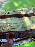 Tortitas de arroz con chocolate con leche - Informació nutricional - ca