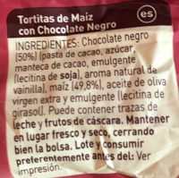 Tortitas De Maiz Y Chocolate Negro - Ingredientes